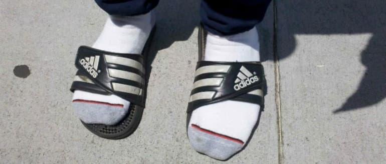 Šlepetės su kojinėm