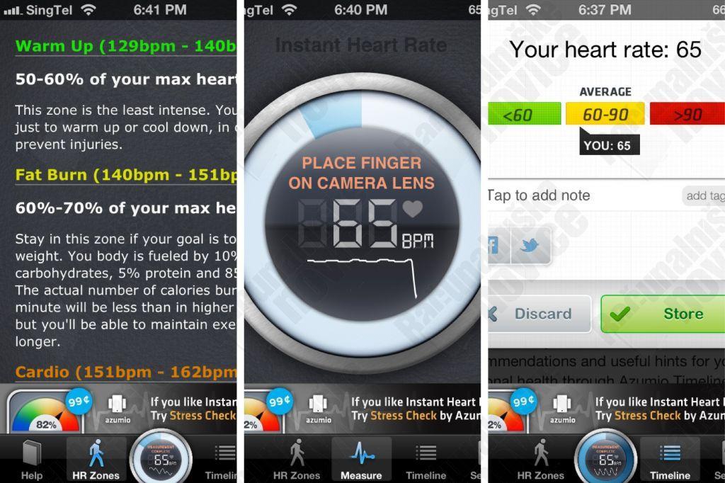 Matuojame pulsą su Instant Heart Rate
