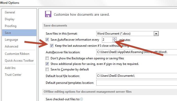 Kaip atkurti neišsaugotą Word ar Excel dokumentą?