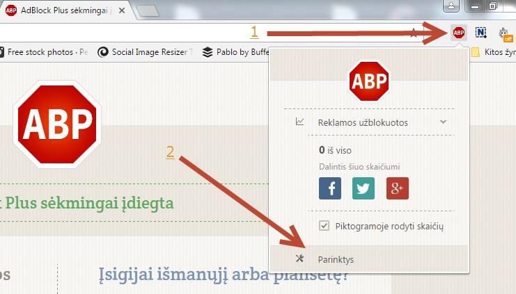 Kaip užblokuoti reklamą Google Chrome naršyklėje?
