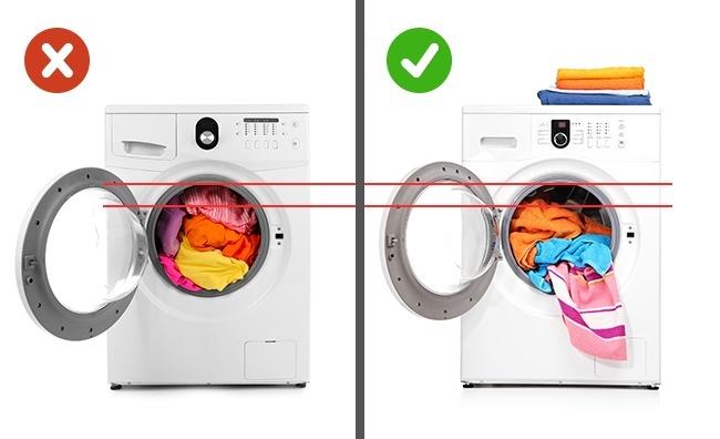 Kiek drabužių dėti į skalbimo mašiną