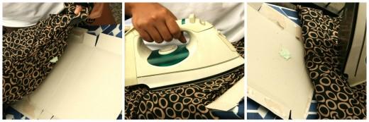 Gumos valymas pašalinimas nuo drabužių su lygintuvu