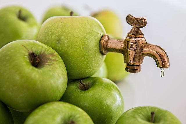 Kepenų valymas obuolių sultimis