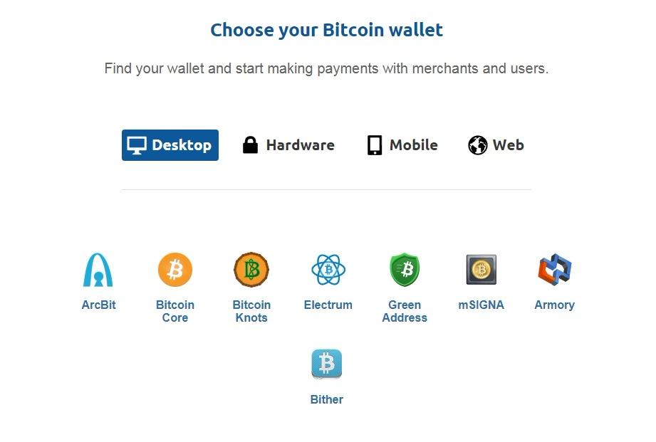 Kompiuterinės bitcoin piniginės