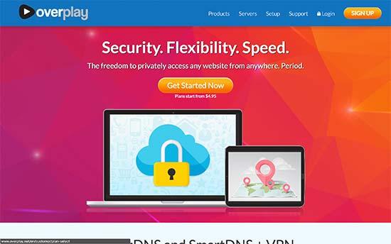 OverPlay VPN servisas