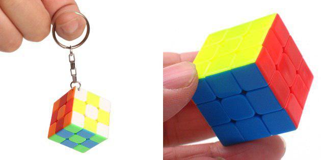 Raktų pakabukas su Rubiko kubu