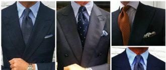 Kaklaraiščio derinimas prie marškinių - kombinavimo ypatumai (foto)