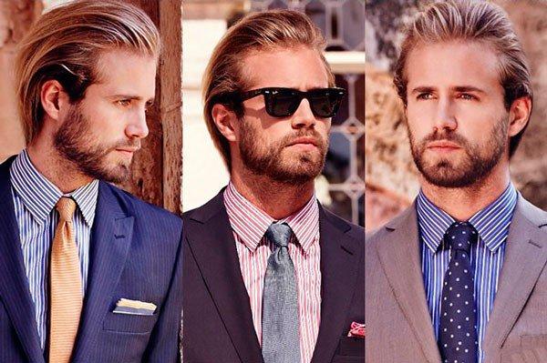 Kaklaraiščiai prie dryžuotų marškinių