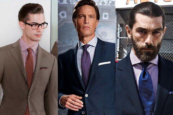 Dryžuoti marškiniai ir kaklaraištis