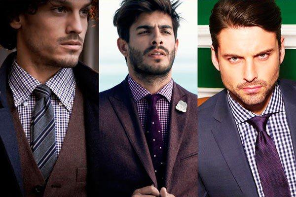 Kaklaraiščiai prie languotų marškinių
