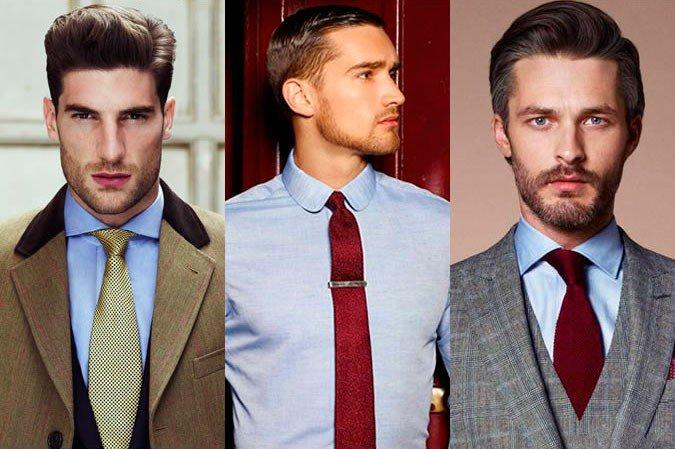 Kaklaraištis prie žydrų marškinių