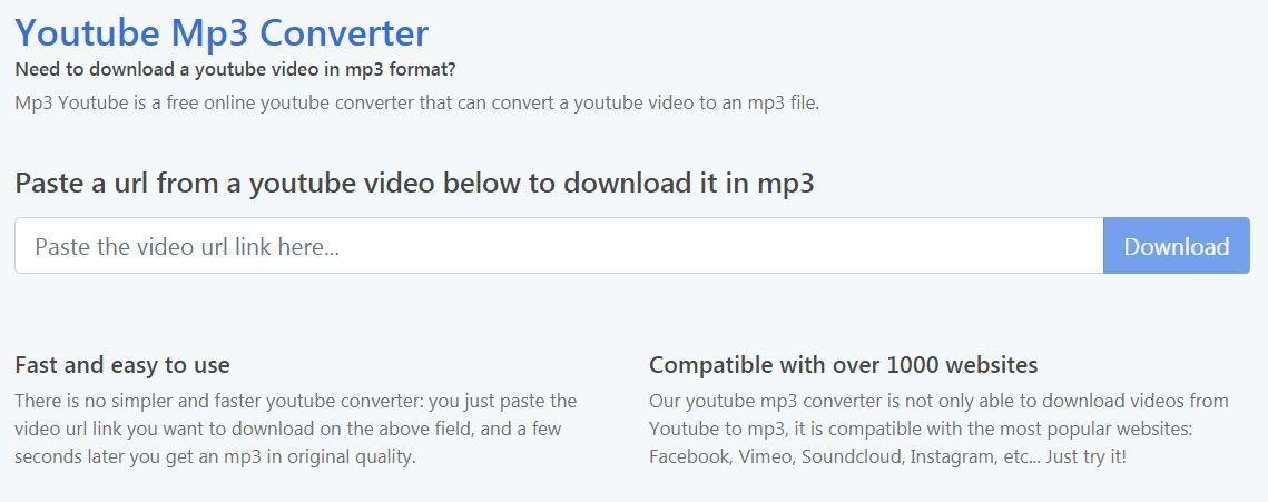 MP3 YouTube servisas
