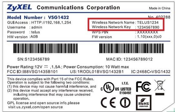WiFi slaptažodis ant maršrutizatoriaus