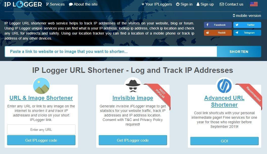 Kaip sužinoti svetimą IP adresą su IP Logger