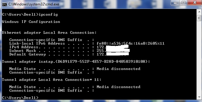 Kaip sužinoti IP adresą Windows kompiuteryje