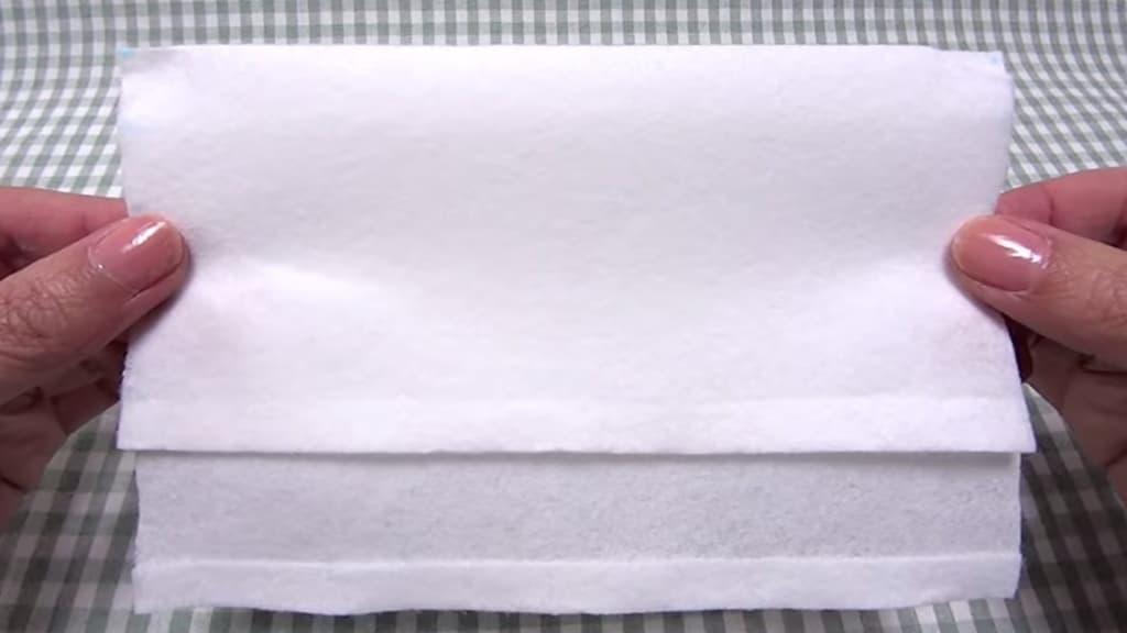 Kaukė iš popierinių rankšluosčių - 5 žingsnis