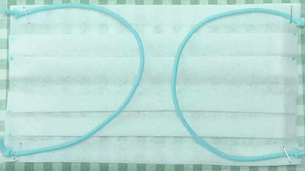 Popierinė medicininė kaukė - 12 žingsnis